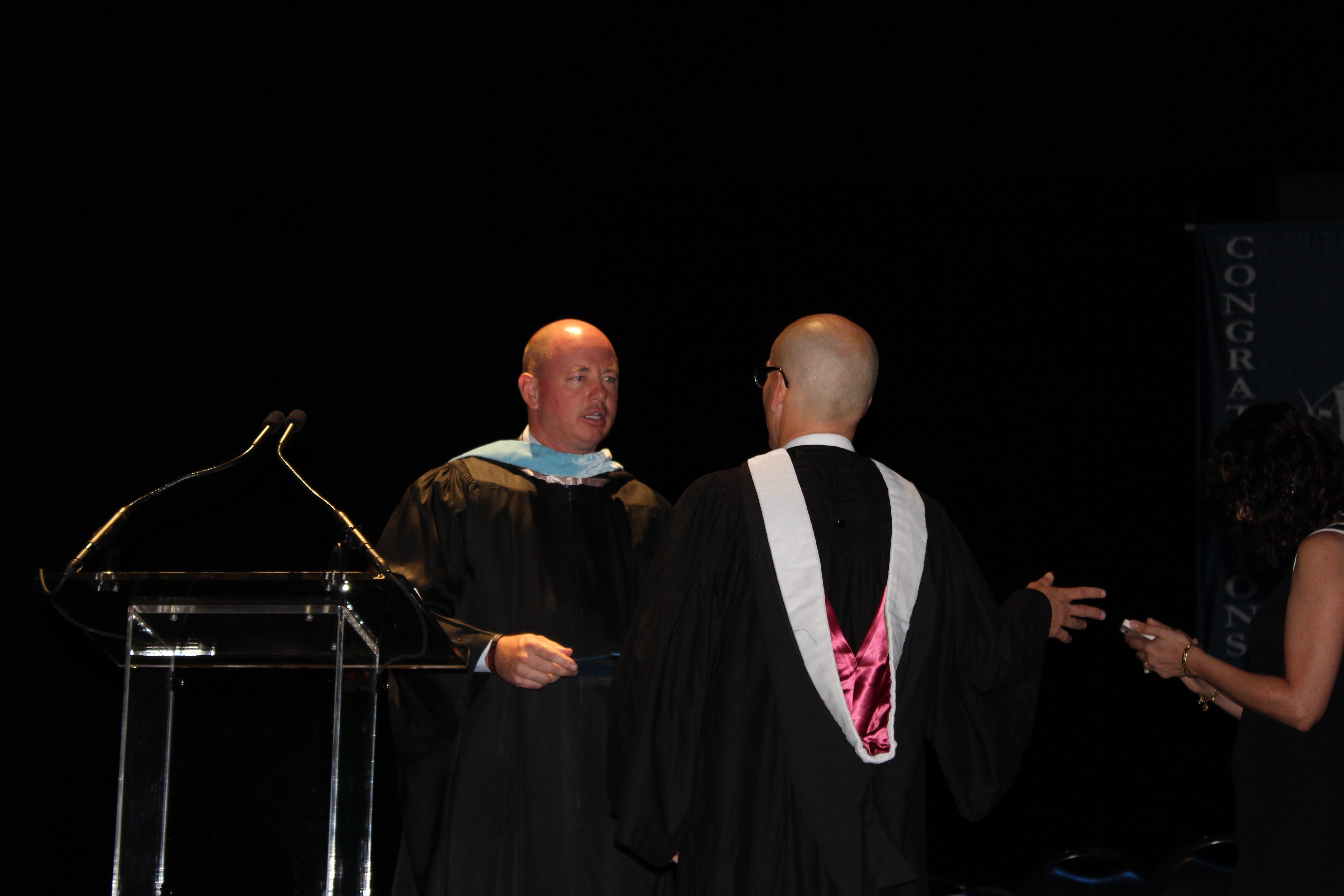 photo essay columbus graduation the log mr pugh and mr crossman
