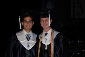 Co-valedictorians Andrew de la Osa and Jackson Martinez