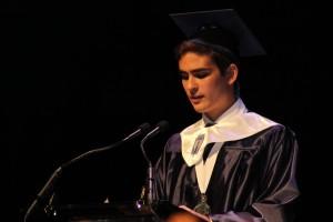 Andrew de la Osa delivers his valedictory